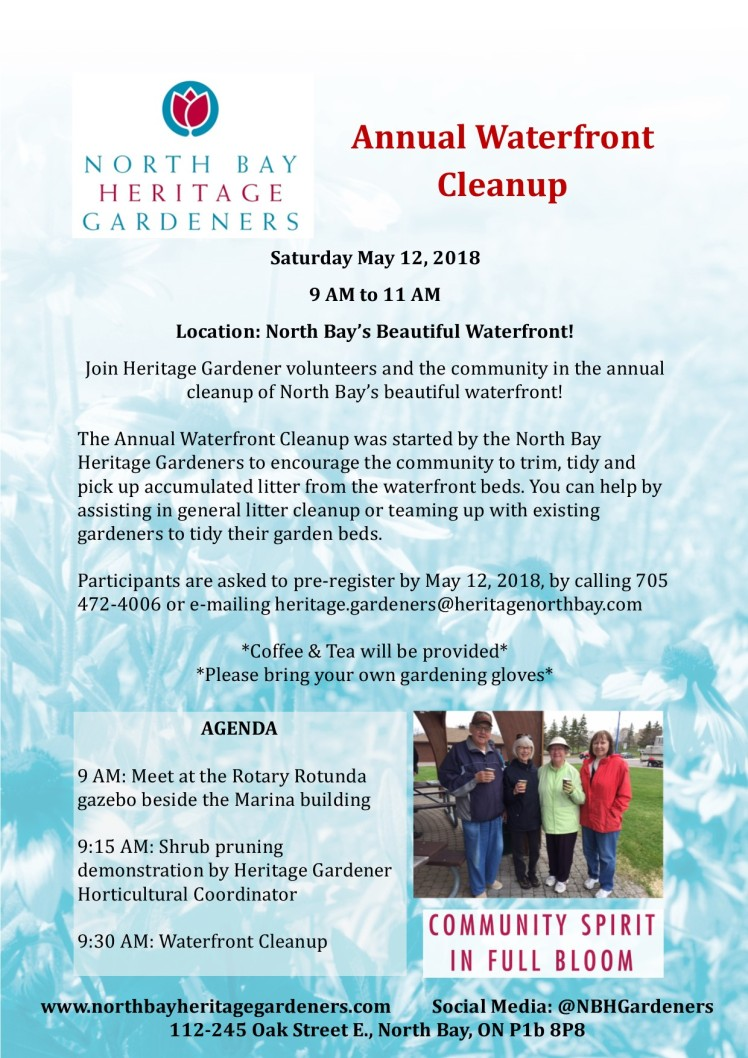 Annual Waterfront Cleanup 2018