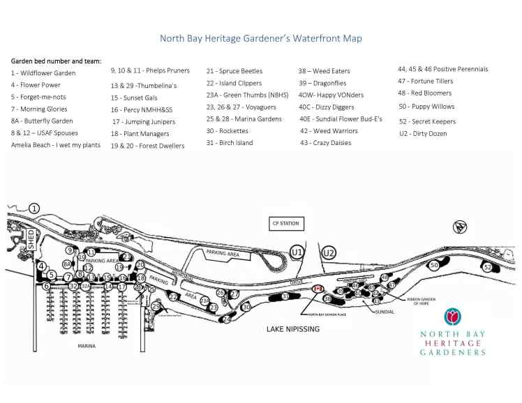 Map of Waterfront Gardens June 2021